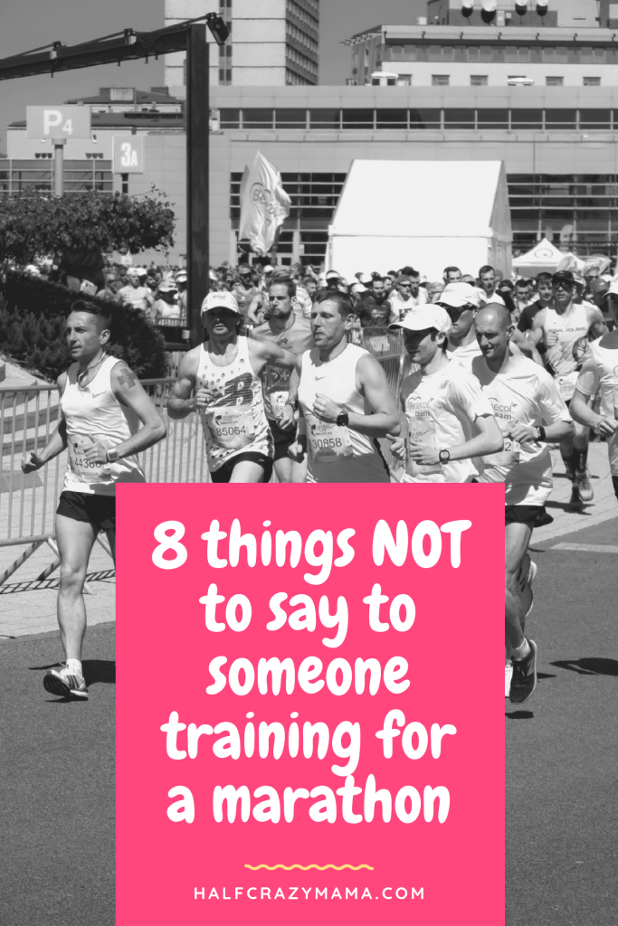 runners and what not to say to them