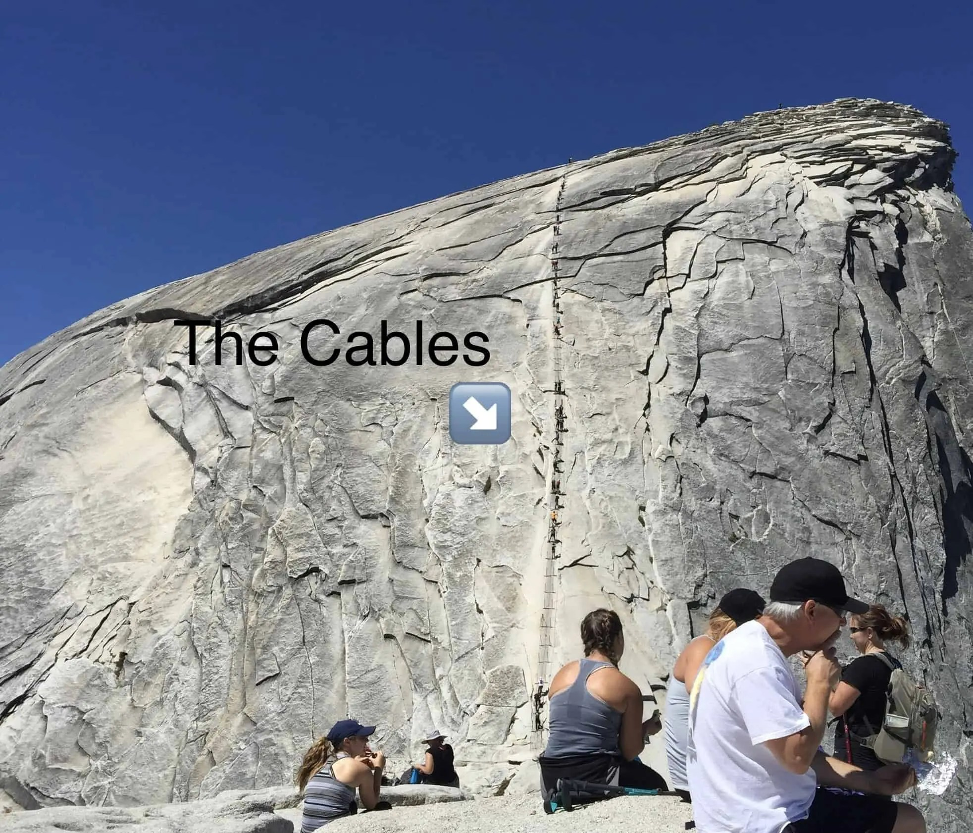 Picture of the Half Dome Cables