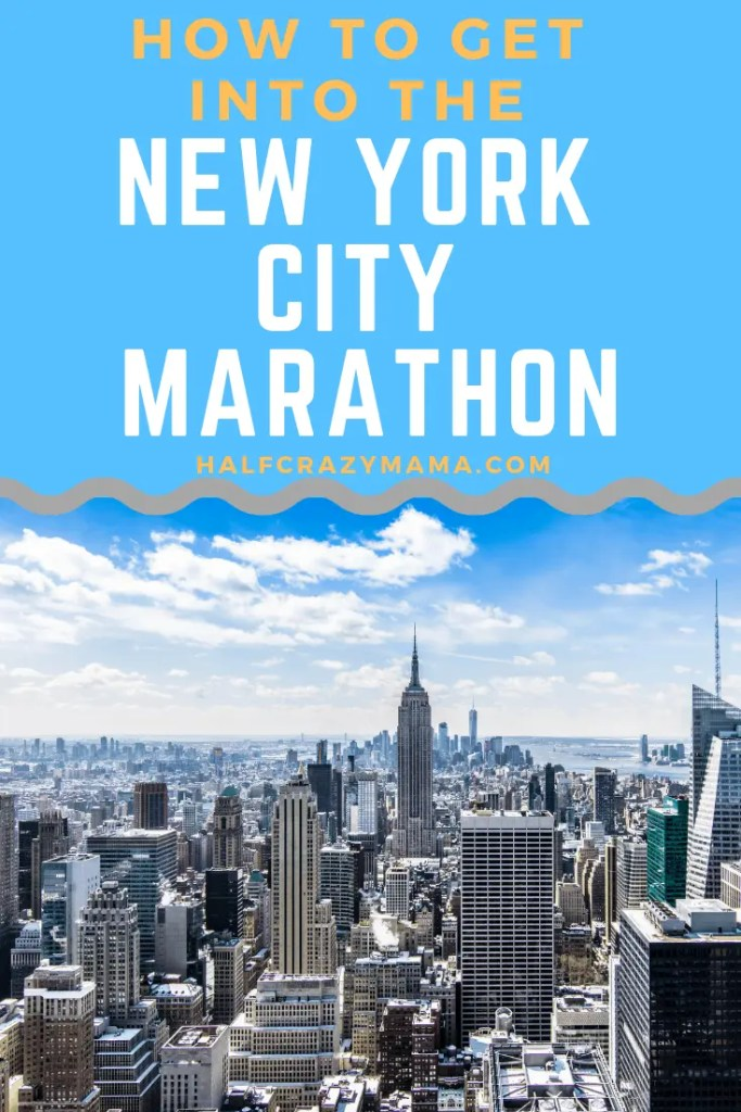 how to get into the NYC Marathon