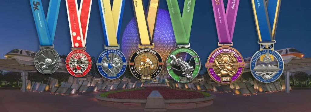 Disney World Marathon Medals