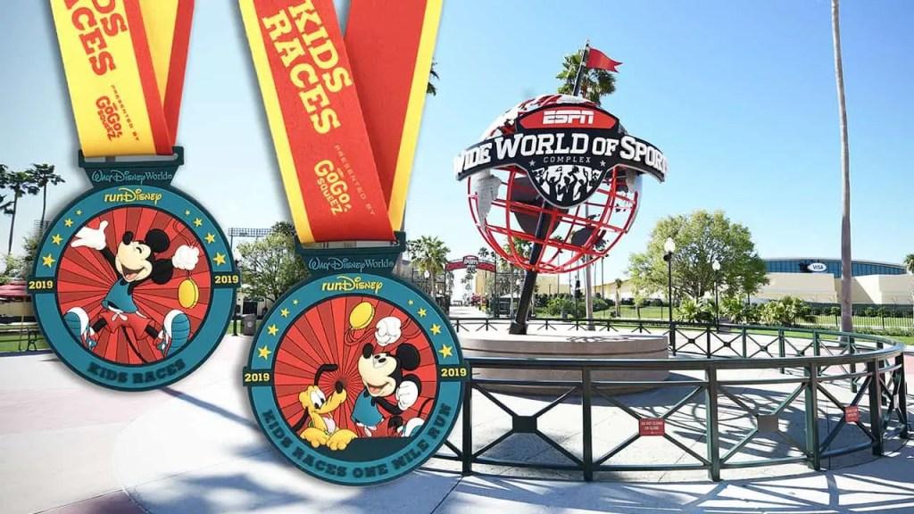 Disney Kids Race Medals