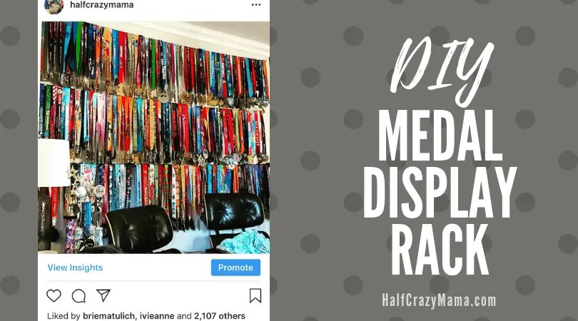 Make Your Own Medal Rack Display