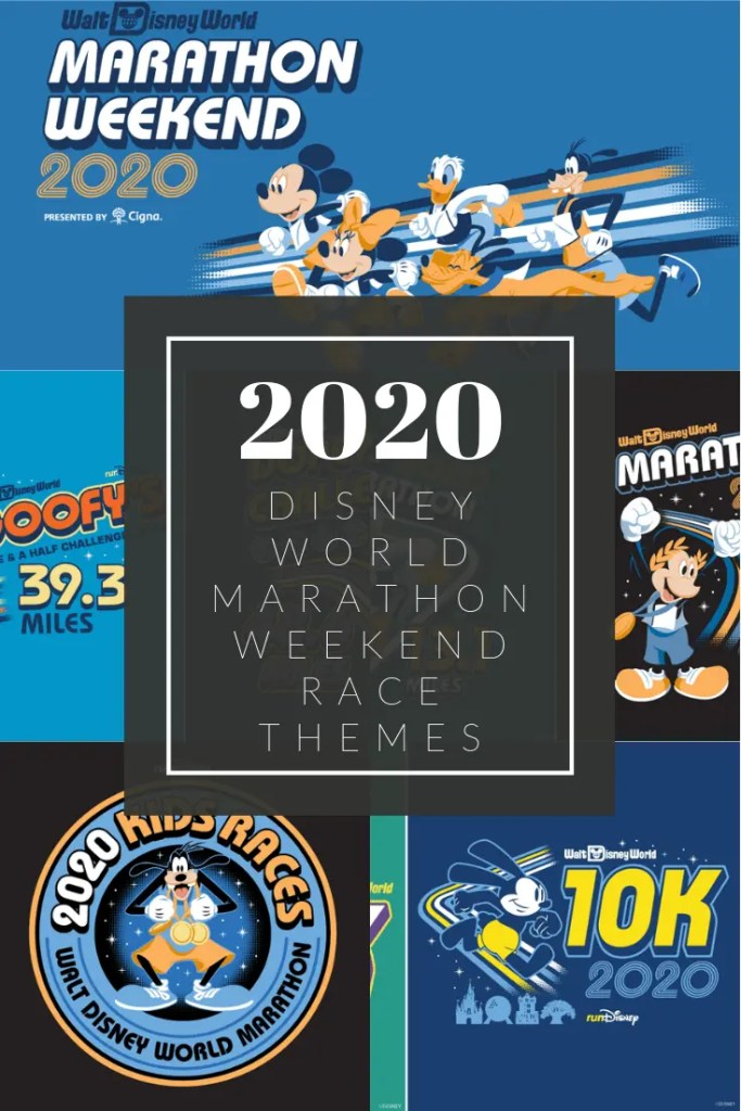 2020 Disney World Marathon Race themes for shirts and medals