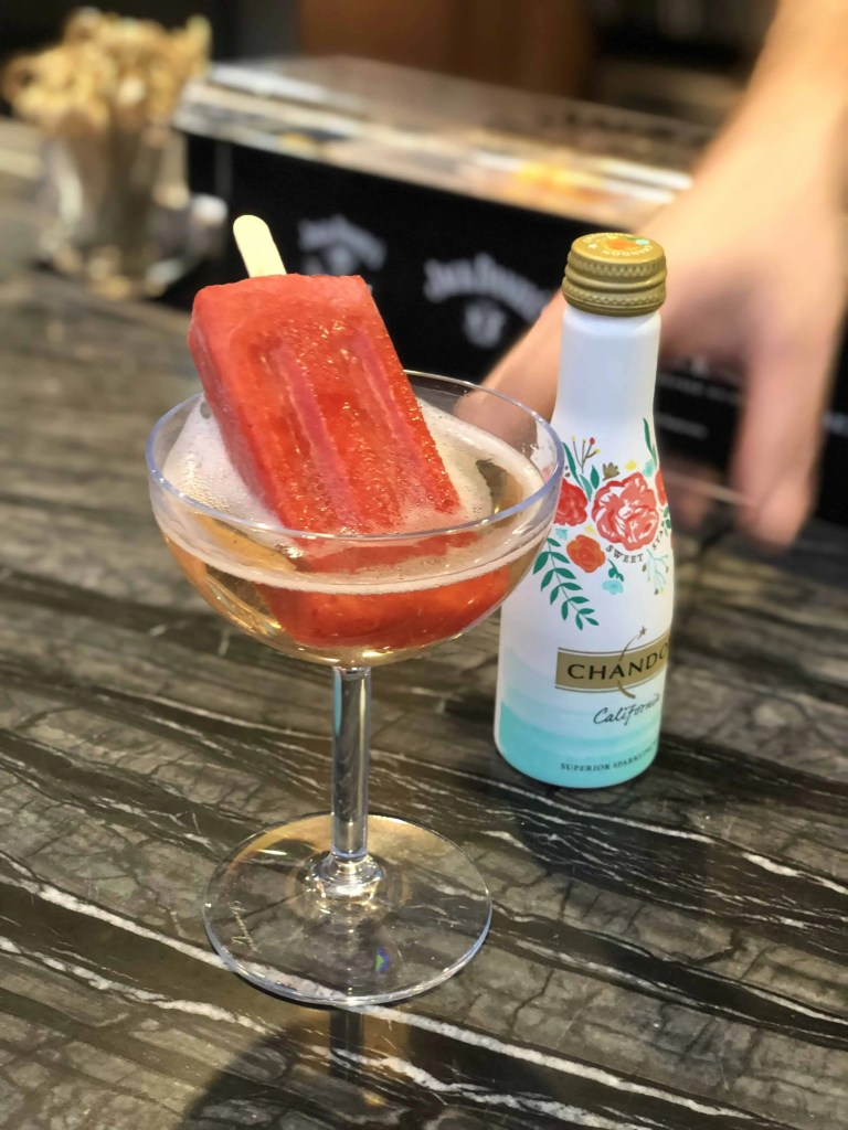 Prosecco and popsicle drink