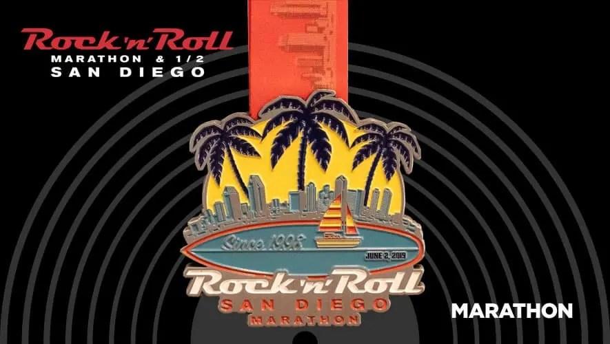 Rock n Roll San Diego Marathon Medal