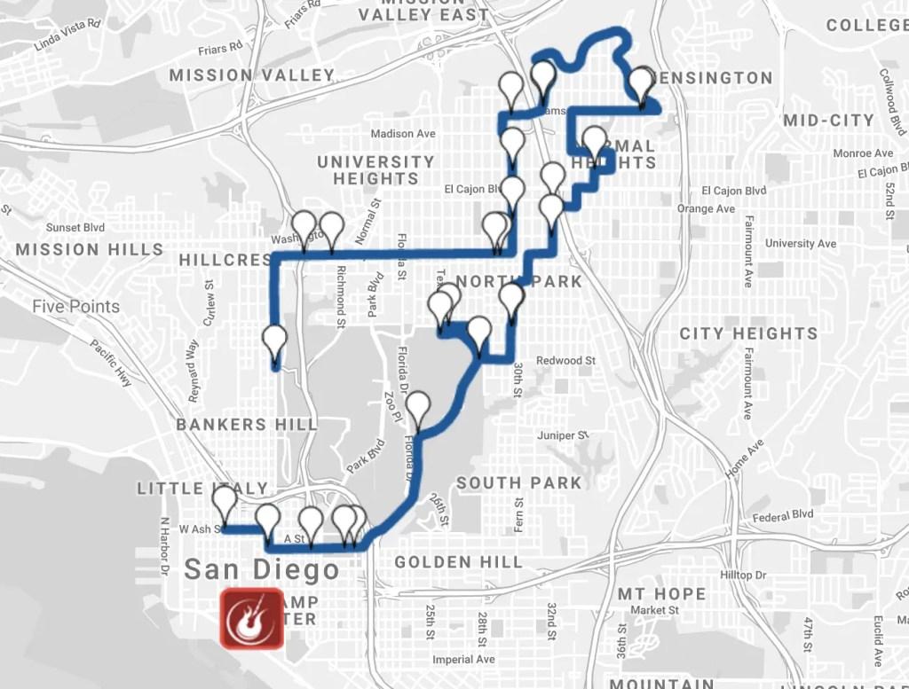 Rock n Roll San Diego Half Marathon Course