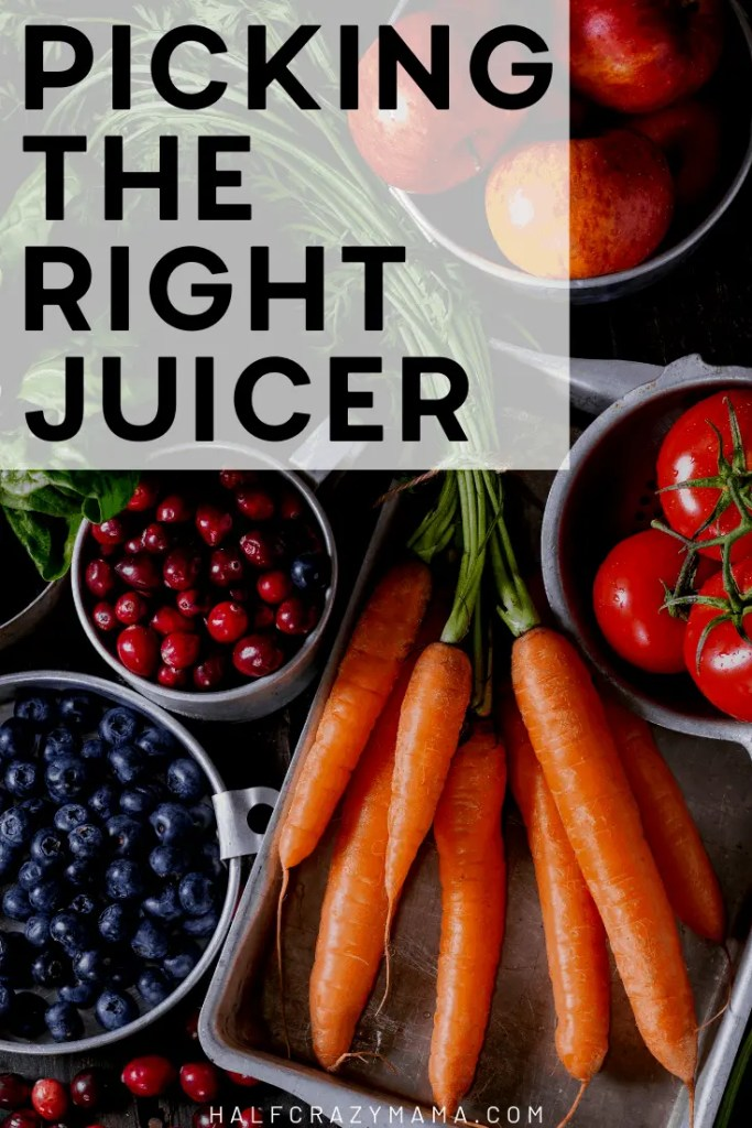 Picking the right juicer
