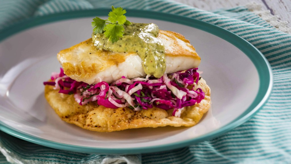 Sea bass tostada