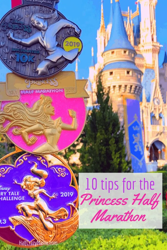 disney princess medals and castle