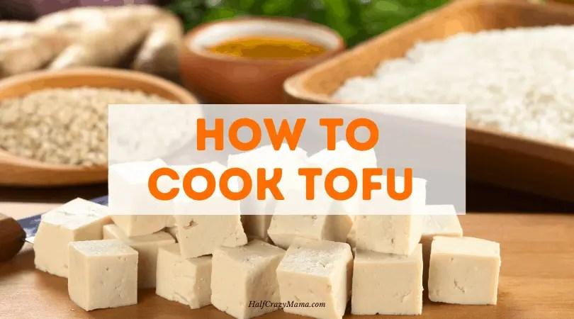 tofu on a cutting board