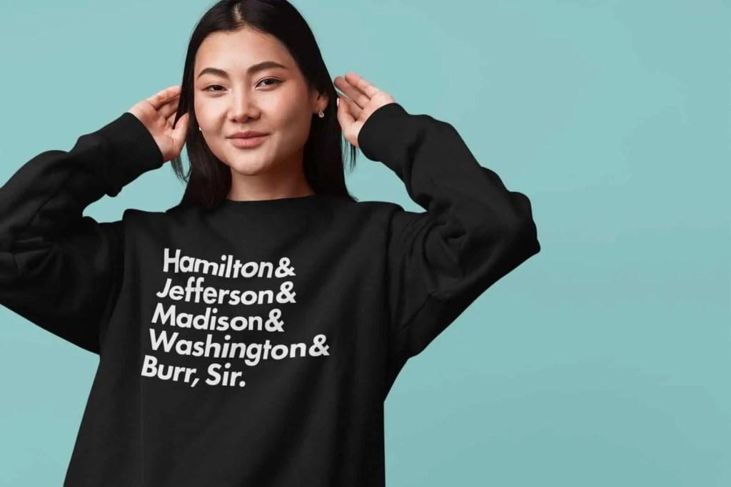 sweatshirt with words