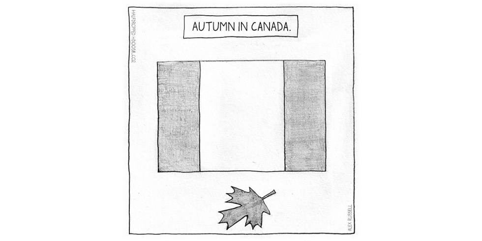 Autumn In Canada Halfdropped cartoon