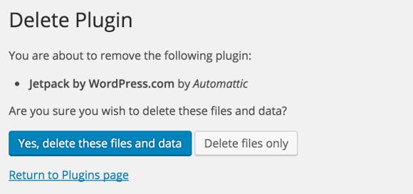 Delete plugin files AND data