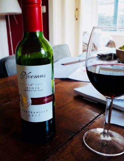 Noemus vegan biologische rioja Spanje 37,5cl tafel glas wijn flesje