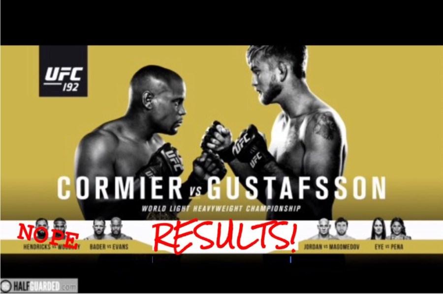 UFC 192 Free Stream of Consciousness Recap and Results live (or ...