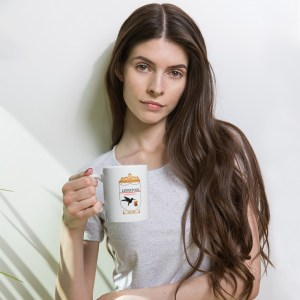 YOU'LL NEVER DRINK ALONE MUG AD