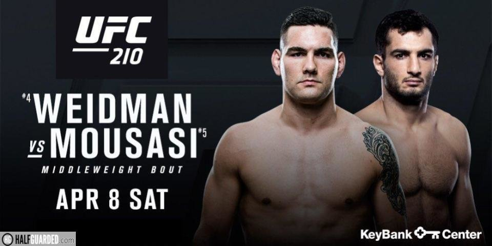 ufc 210 weidman vs mousasi