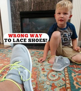 Lock Laces Wrong Way to Lace