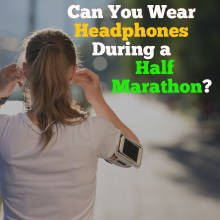 can you wear headphones during a half marathon