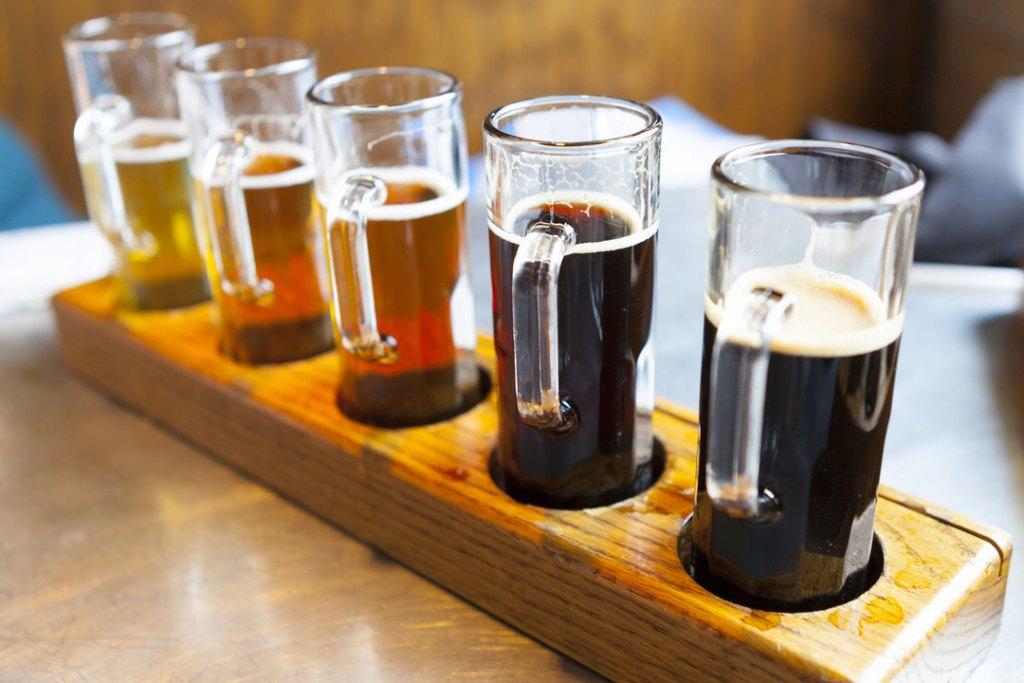 flight of beer shots