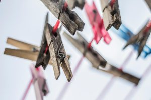 Clothes pins for line drying