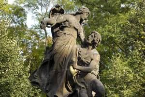 Ctirad and Sarka statue Prague