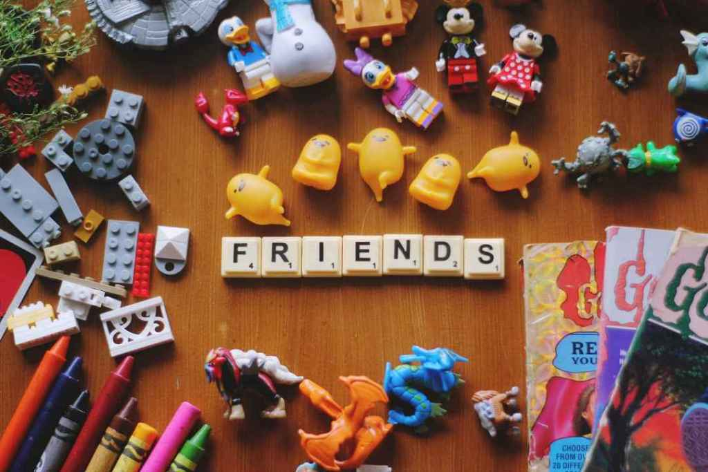 assortment of plastic children's toys