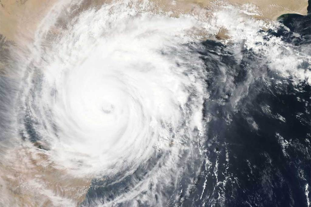 Nasa satellite image of a hurricane