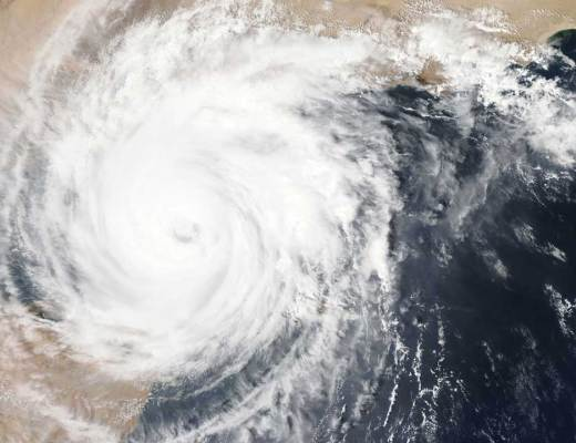 Nasa satellite image of a hurricane