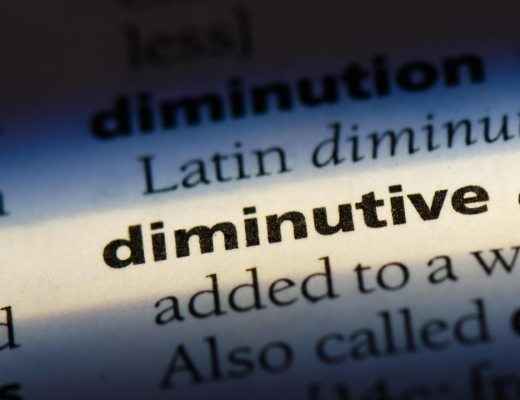 diminutive word in a dictionary. diminutive concept