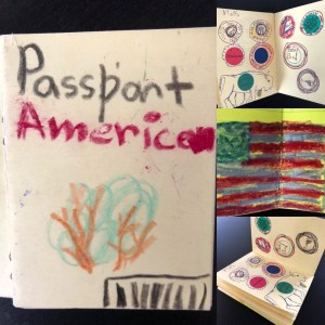 a passport drawn by a child