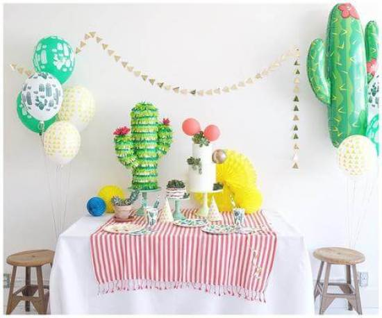 Top Party Trends for 2017. Trend 1: Still loving nature...fairy garden, lumberjack, camping, glamping, woodland, cactus. | Halfpint Design - Cactus fiesta