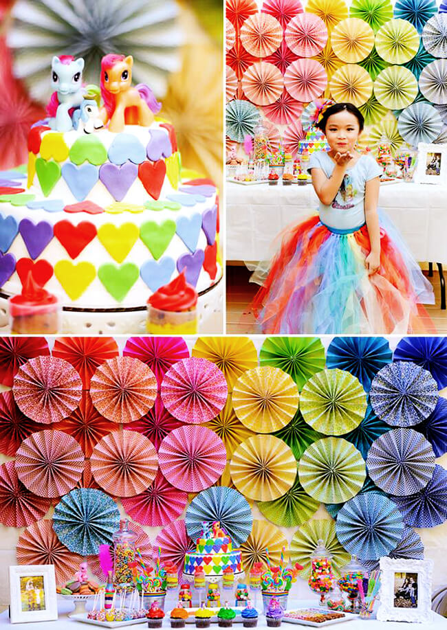 Rainbow - Color Party Trend 3: Color sets the stage for fabulous fun | Halfpint Design