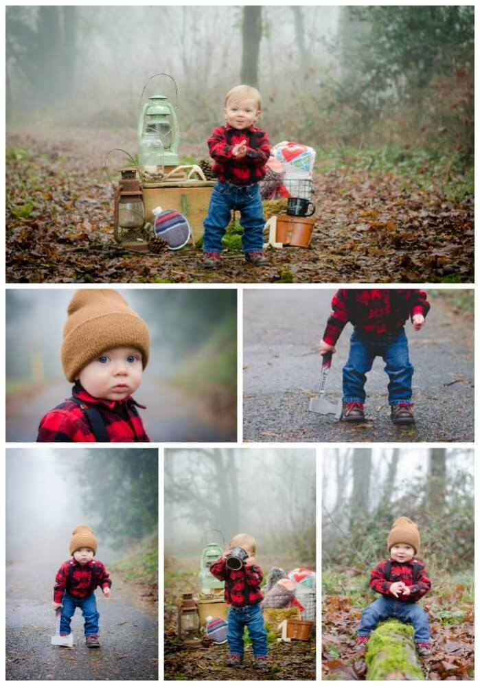 Top Party Trends for 2017. Trend 1: Still loving nature...lumberjack, camping, glamping, woodland, fairy garden, cactus. | Halfpint Design - How cute is this little lumberjack?! Adorable.
