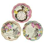 Tiny dessert Plates. Alice in Wonderland tea party sources | Halfpint Design