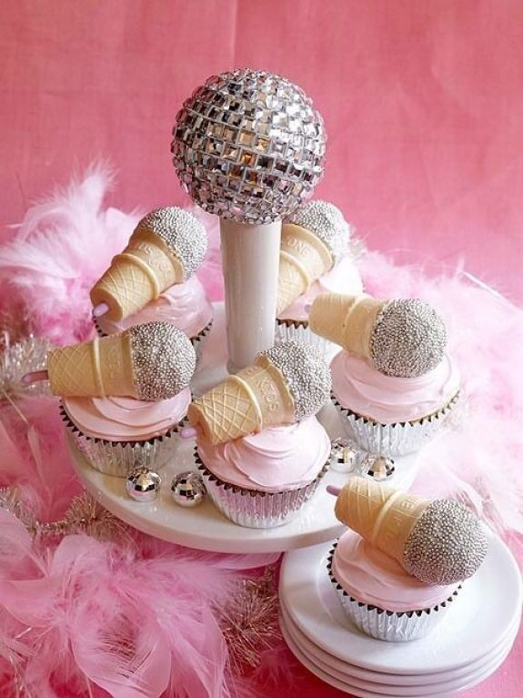 Mini-Oscars: for the best children's movies of 2016 voted on by children | Halfpint Design - Sing, rock star microphone cupcakes.