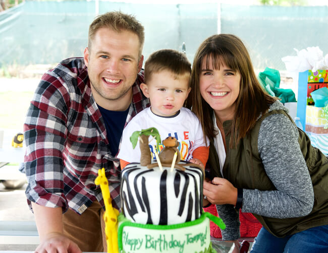 Feature Friday: Party Animals birthday! | Halfpint Design - The birthday boy loved it and that's the best part!