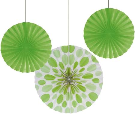 Green party supplies | Halfpint Design - These green fans make for a great St. Patrick's Day party or a fun addition to a Dinosaur party, Princess and the Frog party, reptile party, etc.