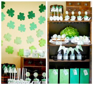 Choosing the Perfect Party Color Scheme | Halfpint Design - 1 color harmony, monochromatic green St. Patrick's Day party