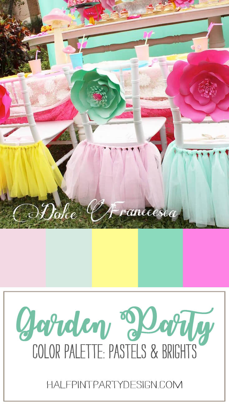 Springtime Party Color Palettes   Halfpint Design - mixing soft pastels and brights works if you limit the number of colors
