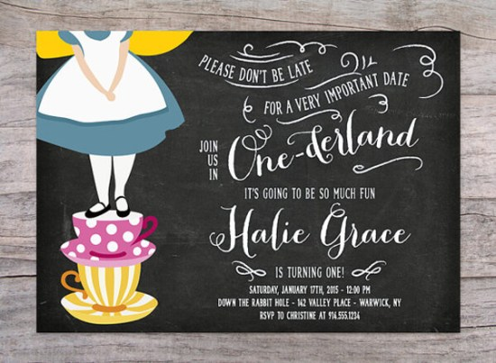 Party by Number: ONE - Halfpint Design - Great first birthday party invitation ideas....Join us in ONEderland