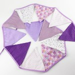 A Passion for Purple | Halfpint Design - A wonderful cloth pennant banner for a purple party. Handmade with love.