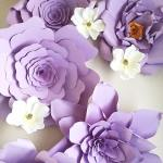 A Passion for Purple   Halfpint Design - Giant paper flowers on Etsy