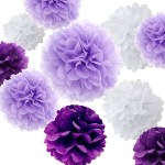 A Passion for Purple   Halfpint Design - Purple tissue poms make a huge impact when grouped together