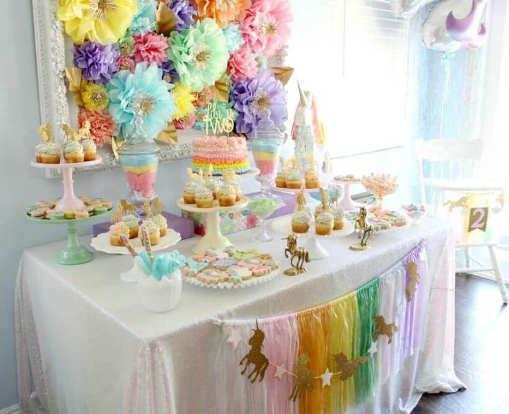 Springtime Party Color Palettes | Halfpint Design - Rainbow parties can be toned down using softer pastel versions