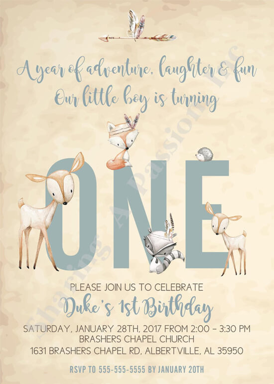Party by Number: ONE - Halfpint Design - Great first birthday party invitation ideas....A year of adventure, laughter and fun