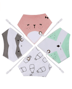 16 Best Baby Shower Ideas for Mom | Halfpint Design - These bandana bibs are great for wearing all day! From feeding time to playtime drool, it'll keep baby clean and dry. I like that they are larger than the newborn bibs which are totally worthless and they have a built in pacifier strap to keep that binkie close.