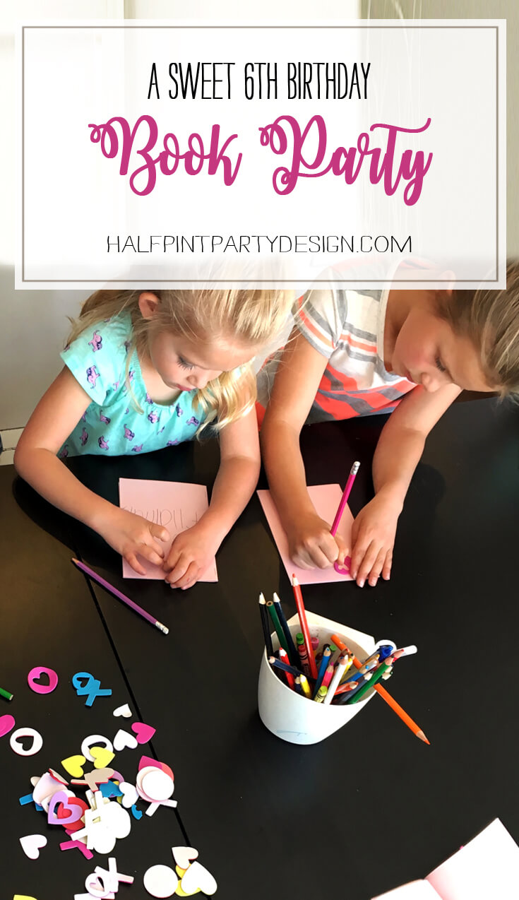 6th Birthday Book Party   Halfpint Design - What a wonderful theme for a 6 year old to choose. She helped plan and execute the party and it turned out splendidly. Book themed birthday party.