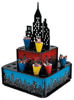Comic superhero party snack cone holder. Wonder Woman Party Food | Halfpint Design, party ideas, party themes