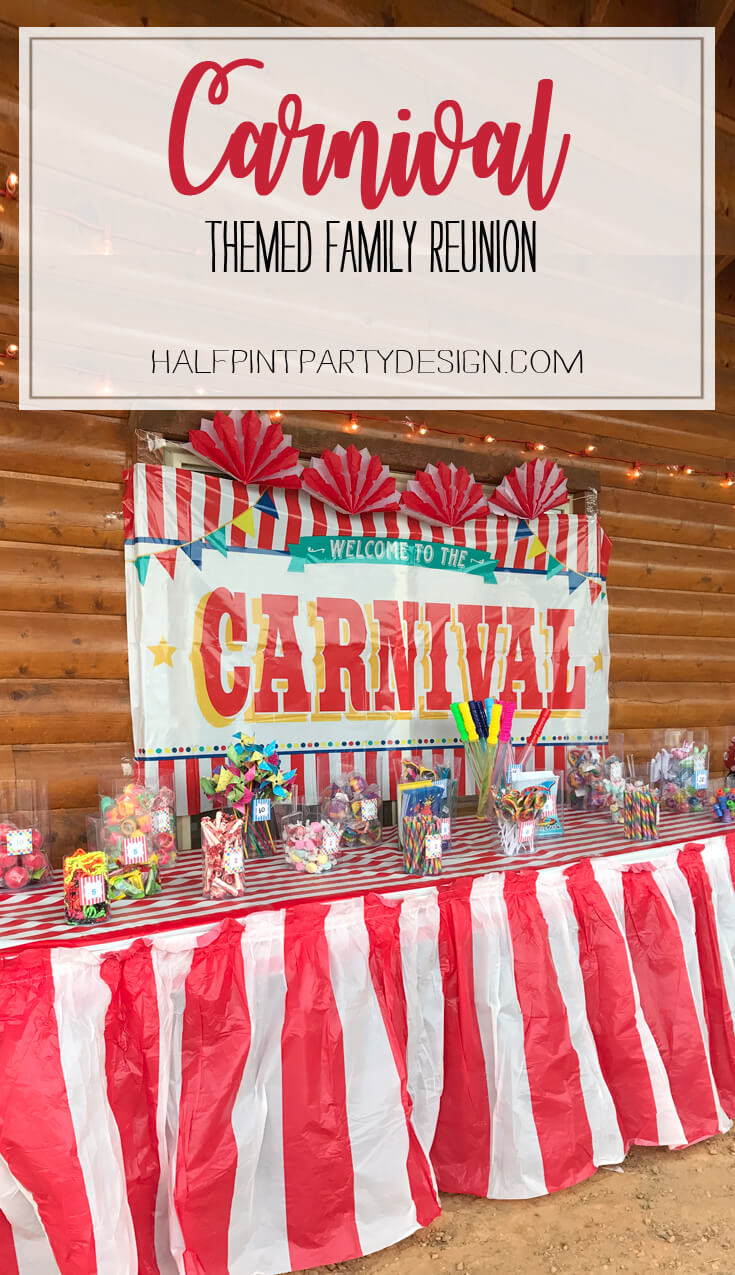 Carnival theme family reunion halfpint party design - Carnival theme party for adults ...